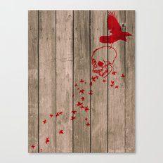 And the birds shall feast... Canvas Print