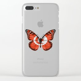 Butterfly Flag Of Tunisia Clear iPhone Case