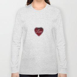 "Decorative ""Love"" Heart Design Long Sleeve T-shirt"