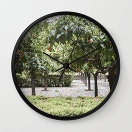 Granada Orange Tree Patio Wall Clock