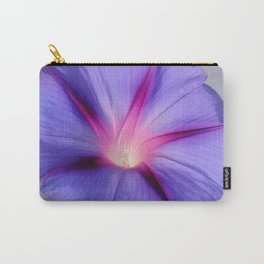 Close Up of A Morning Glory Purple and Pink Flower Carry-All Pouch
