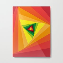Triangular Gen Metal Print