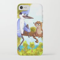regular show iPhone & iPod Cases featuring Regular Show - Mordecai and Rigby by Emsoble