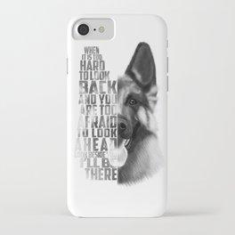 German Shepherd Quote Text iPhone Case