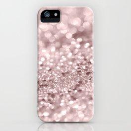 Sparkling Rose Gold Blush Glitter #1 #shiny #decor #art #society6 iPhone Case