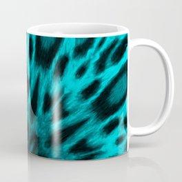 Elegant Teal Spotted Leopard Kaleidoscope Coffee Mug
