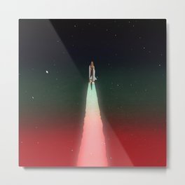 Space Launch Metal Print