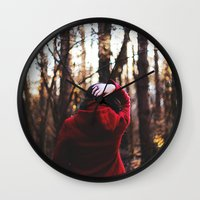 lost in translation Wall Clocks featuring lost in translation  by Sam Marie English