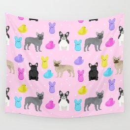 French Bulldog peeps marshmallow spring easter treats frenchie must haves dog breeds Wall Tapestry