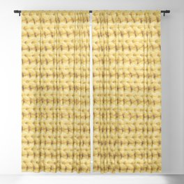 Yellow knitted woolen fabric background Sheer Curtain