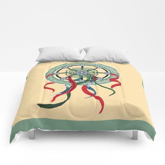 Mandala with Ribbons Comforters