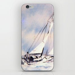 Sydney  to Hobart  Yacht Race        by Kay Lipton iPhone Skin