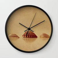 shells Wall Clocks featuring Shells by Around the Island (Robin Epstein)