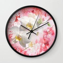 Weiße Orchideen Wall Clock
