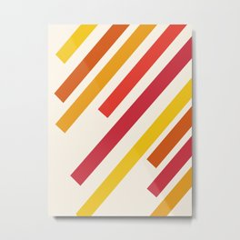 Mellow Out - 70s retro minimal throwback abstract art decor 1970s style colors Metal Print