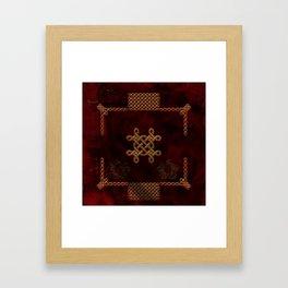 Celtic knote, vintage design Framed Art Print