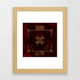 Celtic knote, vintage design Framed Art Print