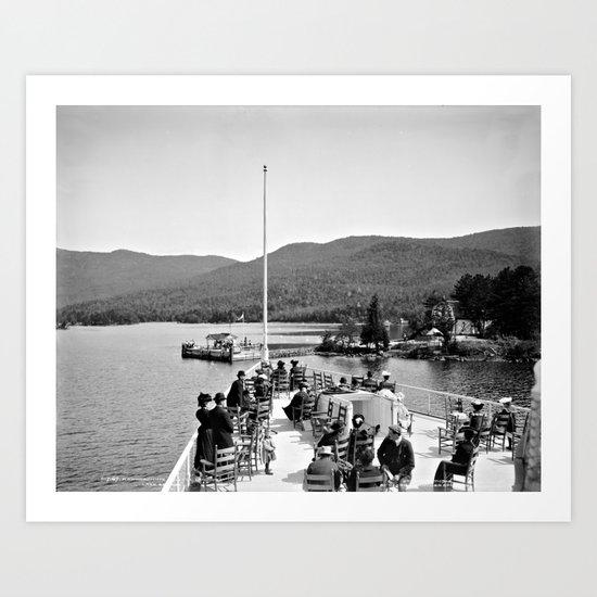 Vintage Lake George: Huletts Landing Art Print