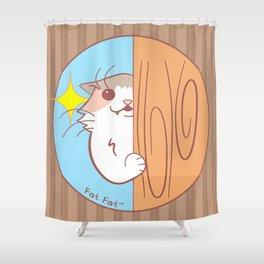 Fat Fat Peeks Shower Curtain
