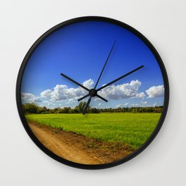 Rice Field Wall Clock