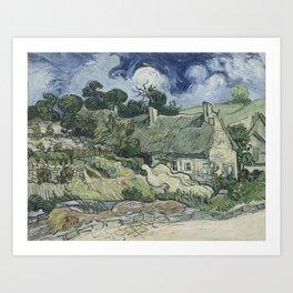 Vincent van Gogh - Thatched Cottages at Cordeville (1890) Art Print