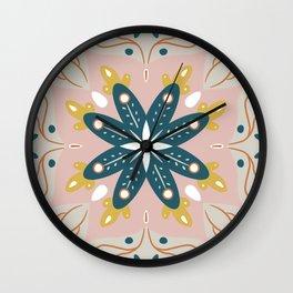 Retro Mandala Wall Clock