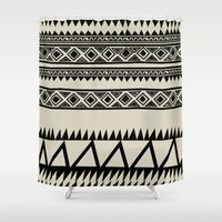 zebra Shower Curtains featuring MALOU ZEBRA by Aztec