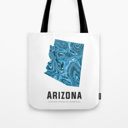 Arizona - State Map Art - Abstract Map - Blue Tote Bag