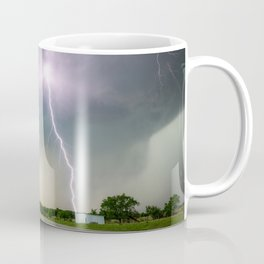 Close Call - Lightning Strike in Kansas Storm Coffee Mug