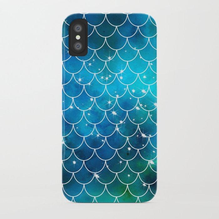 Mermaid Galaxy Scallop Pattern iPhone Case