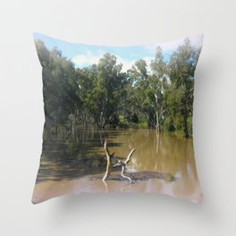 Dead trees Scuplture Throw Pillow