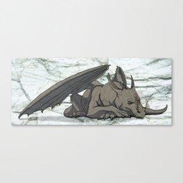 Grey Dragon Canvas Print
