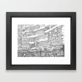 Hong Kong. Kowloon Walled City Framed Art Print