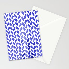 Cute watercolor knitting pattern - blue Stationery Cards