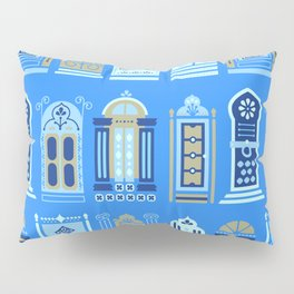 Moroccan Doors – Cornflower Blue Palette Pillow Sham