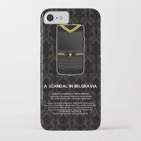 scandal iPhone & iPod Cases featuring A Scandal in Belgravia by MacGuffin Designs