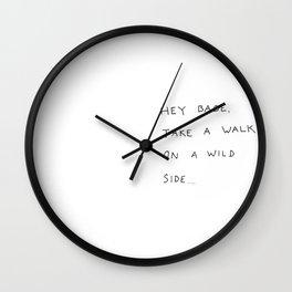 hey babe... Wall Clock