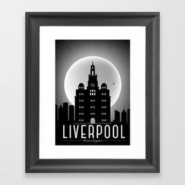 Night at Liverpool Poster Framed Art Print