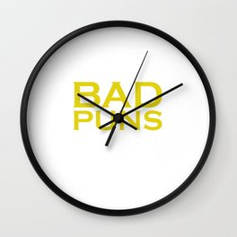 Punny Bad Puns, That's How Eye Roll Funny Pun Wall Clock