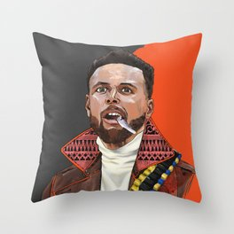 Curry, The Shooter from The Bay Throw Pillow