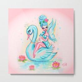 Blue Swan Fairy Metal Print