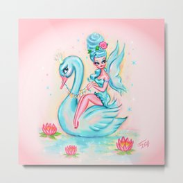Blue Swan Fairy Metal Print