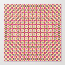 Pink Mediterranean tiles pattern Canvas Print