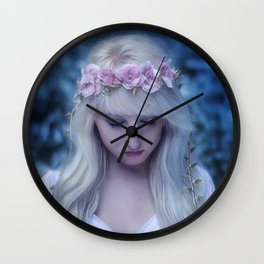 Elven girl Wall Clock