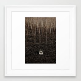 somewhere hidden away Framed Art Print