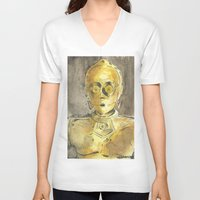 c3po V-neck T-shirts featuring C3PO by Johannes Vick