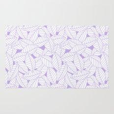 Leaves in Lavender Rug