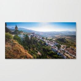 Stunning mountain village of Zahara de la Sierra in Spain Canvas Print