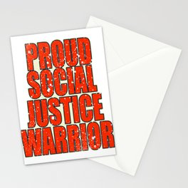 "Unique and catchy tee design with text ""Proud Social Justice"". Makes a nice gift! Stationery Cards"