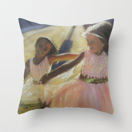 Ballerina Besties Throw Pillow